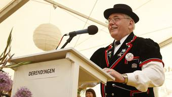 Ueli Bucher war als OK-Präsident und Jodler im Jodlerchörchli Zuchwil unterwegs.