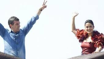 Antonio Banderas und Salma Hayek in Cannes