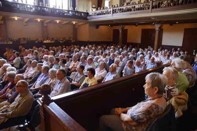 Der Konzertsaal war gefüllt mit Fans der Volksmusik