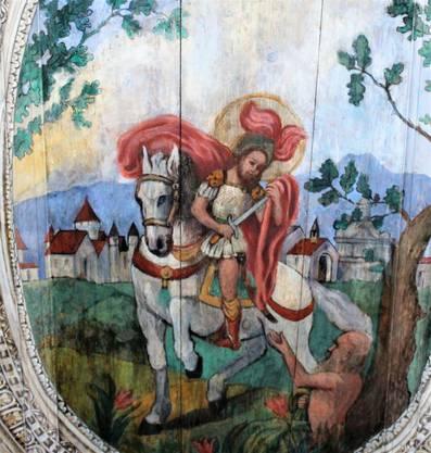 Deckengemälde vom Solothurner Maler Wolfgang Aby in der St. Martinskapelle Einsiedelei