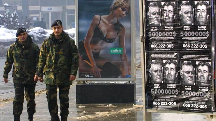 Trotz hohem Kopfgeld dauerte es Jahre, bis Mladic verhaftet werden konnte.