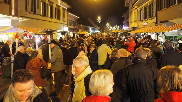 Weit über 10 000 Besucher kommen jeweils zu «Weihnachten in Frick».