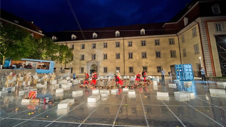 Kulturelle Grossereignisse - hier das Osterspiel in Muri - leben von der Unterstützung durch Stiftungen.