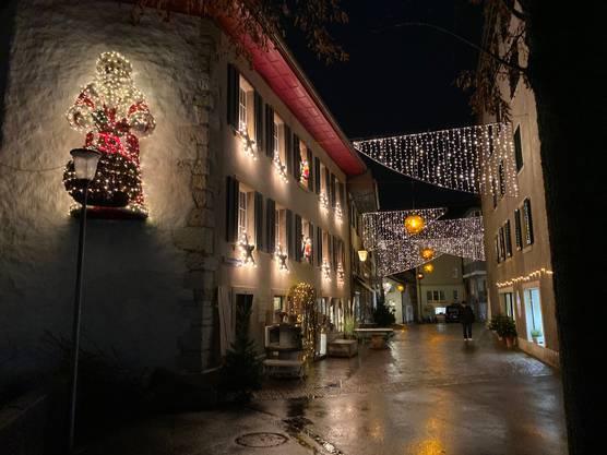 Weihnachtbeleuchtung in der Oltner Altstadt.