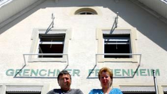 Sagen Adieu: Ferienheimleiter Daniel und Carine Wüthrich.
