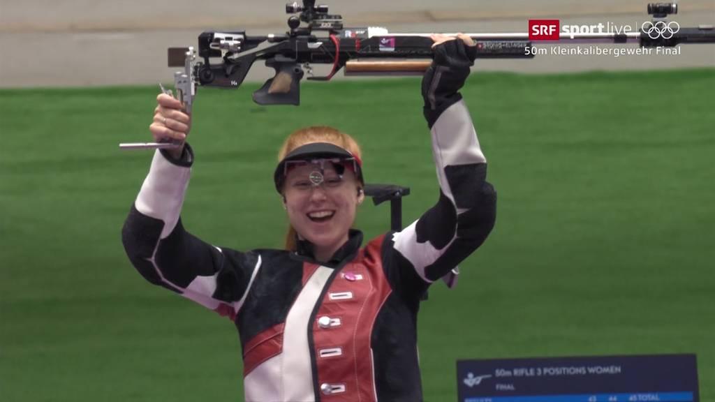 Schiess-Sensation in Tokio: Hier holt Nina Christen Olympia-Gold!