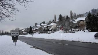 Im Gebiet Wigart, in Richtung Aarau rechts von der Strasse, entsteht ein neues Quartier.