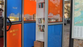 Seit Samstag steht die Bücherbox.
