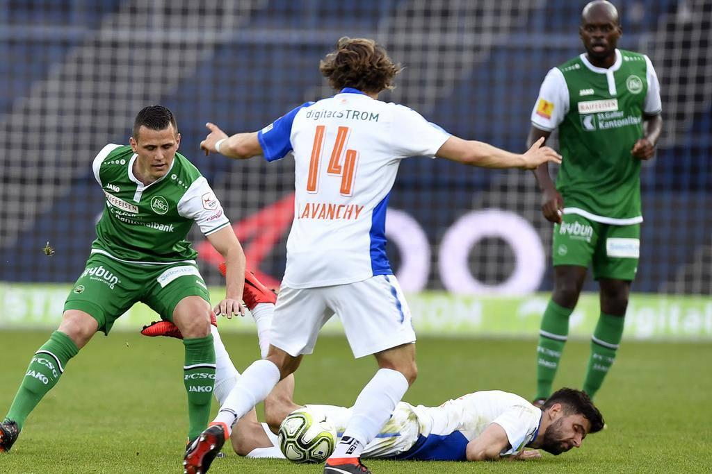 St.Gallen gewinnt gegen GC (© Keystone)