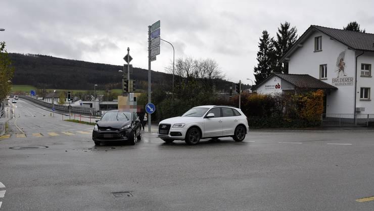 Der Unfall ereignete sich am Samstagmorgen um kurz nach halb zehn auf der Dorfstrasse in Wangen bei Olten.