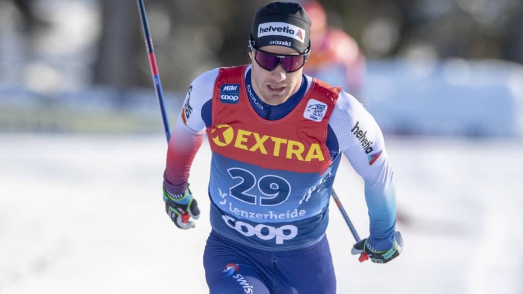Punktlandung im Prolog der 6. Etappe der Tour de Ski im Val di Fiemme: Dario Cologna erreichte als 29. mit drei Hundertsteln Reserve die Viertelfinals des Klassisch-Sprints