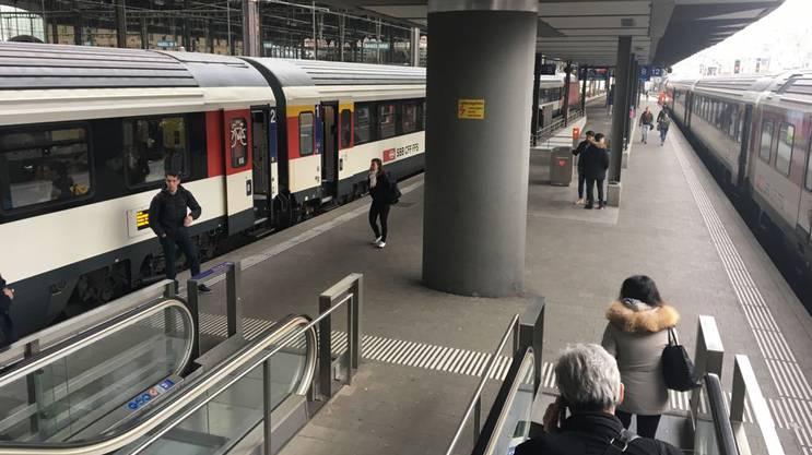 Auch von Basel aus ist der Zugverkehr in den Ost-Aargau unterbrochen.