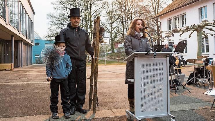 2019 hatte die Gemeinde Birmenstorf (im Bild Gemeindeammann Marianne Stänz) noch zum Neujahrsapéro geladen.