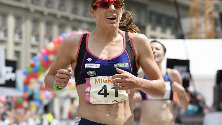 Nicola Spirig konnte mit ihrer Leistung in Hamburg zufrieden sein