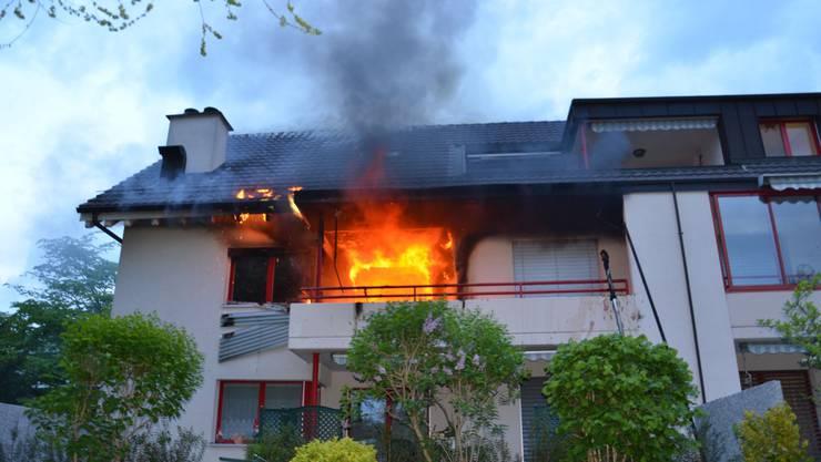Das Feuer brach um 6 Uhr in einem Haus an der Baselstrasse aus.