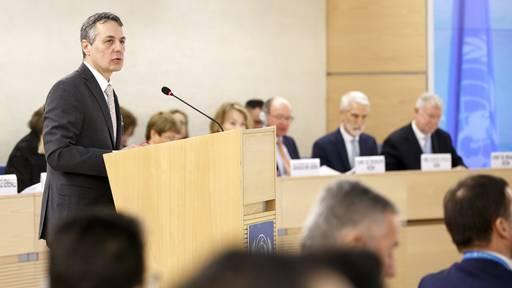 Cassis ruft die UNO-Mitglieder zum Handeln auf