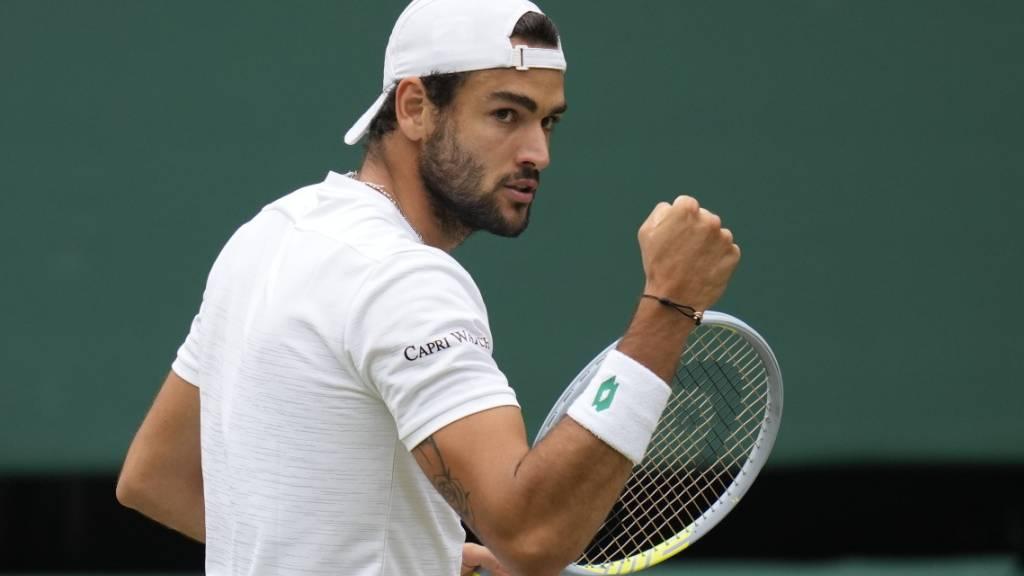 Im Hoch: Matteo Berrettini gewann vor drei Wochen das Turnier in Queen's und steht nun als erster Italiener im Wimbledonfinal.