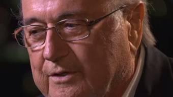 Sepp Blatter im Interview mit dem Westschweizer Fernsehen.