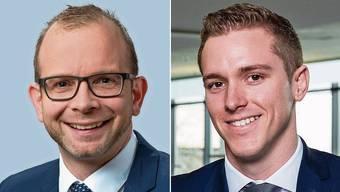 Lukas Kretz (BDO, links) und Silas Rohner (VZ) beantworten die Fragen der AZ-Leser.