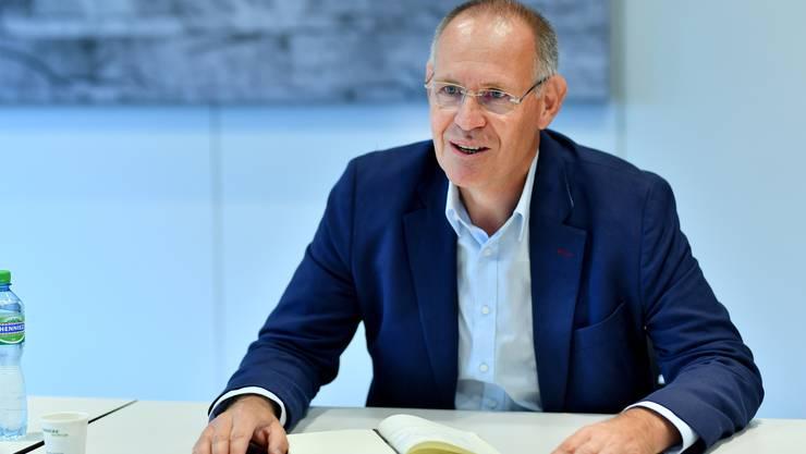 Stefan Nünlist, designierter Präsident der FDP Kanton Solothurn, vor der Oltner Altstadt und im Swisscom-Sitzungszimmer in Interview vor der Wahl an der kommenden FdP-DV.