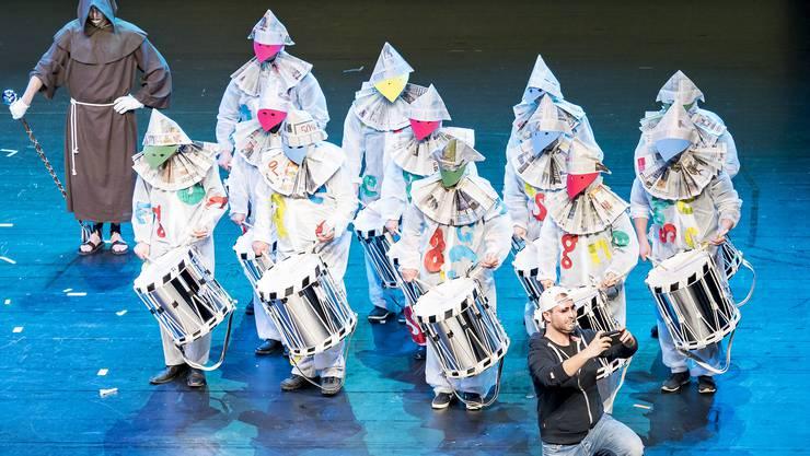 Premiere Drummeli 2019, Fototermin Hauptprobe: 13.15 Uhr, Musical Theater Basel. 2019, Sans Gêne, Copain, Bâle Medial
