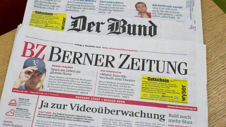 Werden bald von einer gemeinsamen Redaktion abgefüllt: Die beiden Berner Zeitungen von Tamedia.