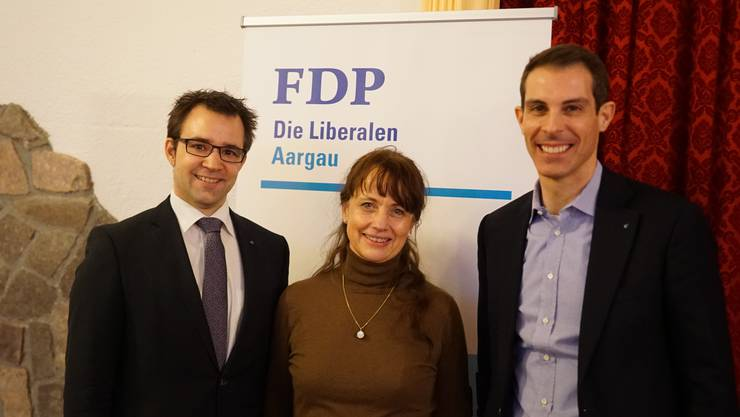 Titus Meier und Martina Sigg mit NR Thierry Burkart