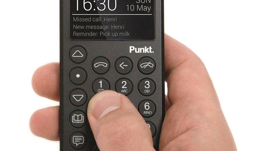 Punkt MP 01: So sieht das simple Telefon aus.