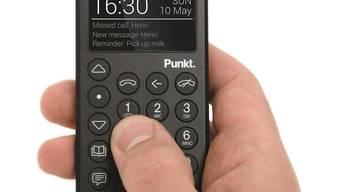 Das MP01 Mobile Phone der Schweizer Firma Punkt ist ab Anfang Dezember online oder in ausgewählten Geschäften für 329 Franken erhältlich.