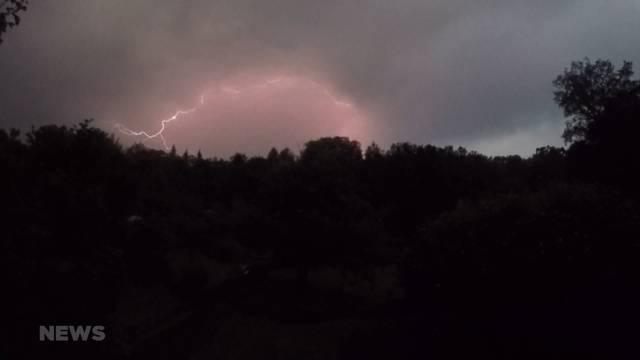 Gleich zwei Blitzeinschläge in der Region