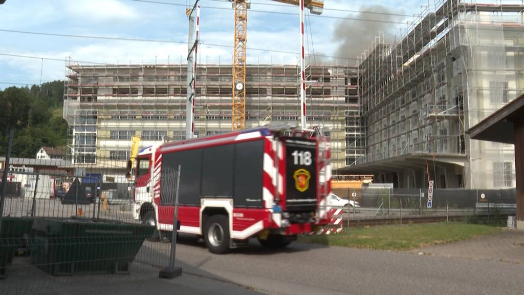 Stettlen: Brand auf Bernapark-Baustelle