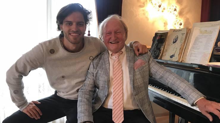 Sir Albert ist ein Klotener Urgestein, noch immer spielt er täglich vier Stunden Klavier.