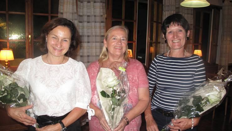Die neu aufgenommenen Happy Singers (von links) Astrid Schmid, Claudine Heiniger und Emma Studer.
