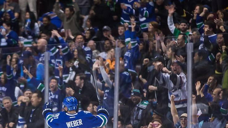Womöglich jubelt Yannick Weber schon bald nicht mehr für die Vancouver Canucks