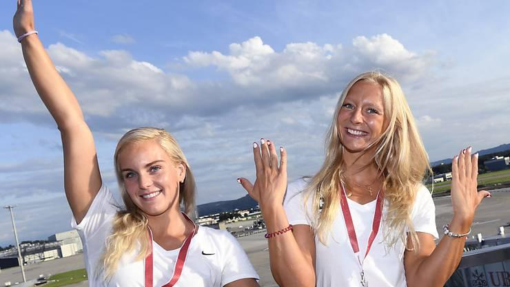 Sasha Touretski (links) und Maria Ugolkova waren in Rekordlaune
