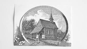 Die Kapelle Lohn auf einem Stich aus dem Jahr 1885.