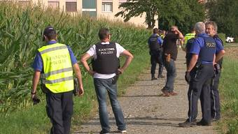 Am Dorfrand von Suhr wurden die beiden Verdächtigen im Sommer 2016 geschnappt.