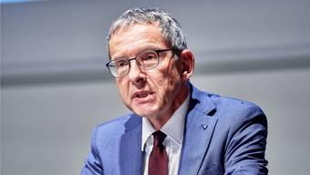 Urs Hofmann, oberster Polizeidirektor der Schweiz, fordert von der Swisscom, ihr Sicherheitsdispositiv kritisch zu durchleuchten und gegebenenfalls ihre Abläufe anzupassen. Bild: Colin Frei (August 2019)