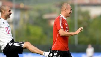 Pep Guardiola im Trainingslager mit dem FC Bayern