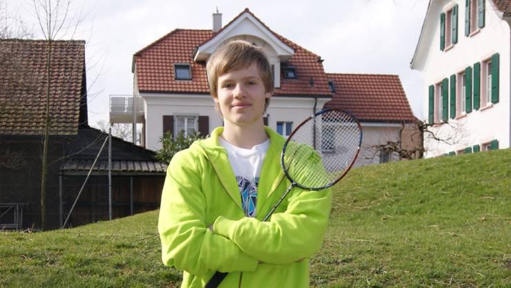 Joshua Panier träumt von einem Leben als Badminton-Profi. Kern