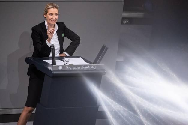 Alice Weidel am Mittwoch im deutschen Bundestag.