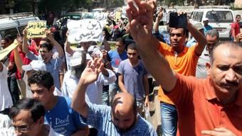 Demonstranten am Donnerstag in Kairo