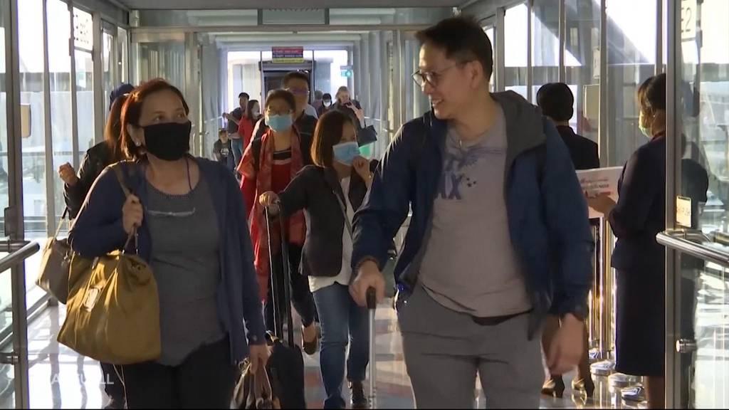 Coronavirus: Nervosität am Flughafen Zürich