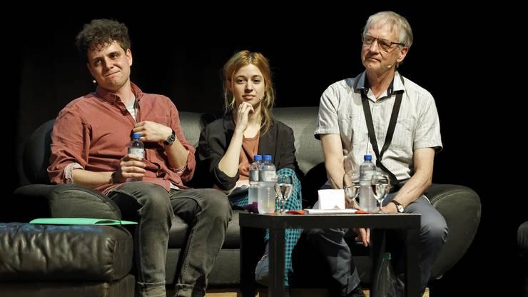 Dominik Muheim (v.l.), Lara Stoll und Ruedi Stuber