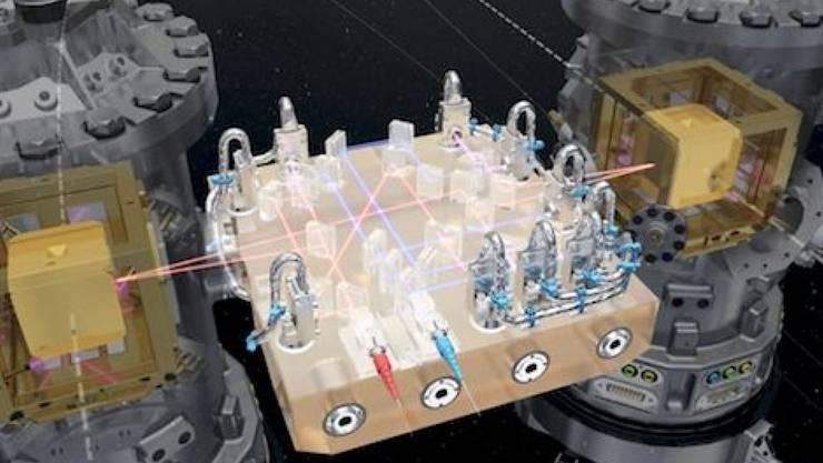Der Satellit LISA Pathfinder hat seine Arbeit aufgenommen: In den nächsten Monaten werden Wissenschaftler prüfen, wie störungsanfällig die Testwürfel zum Messen von Gravitationswellen sind.