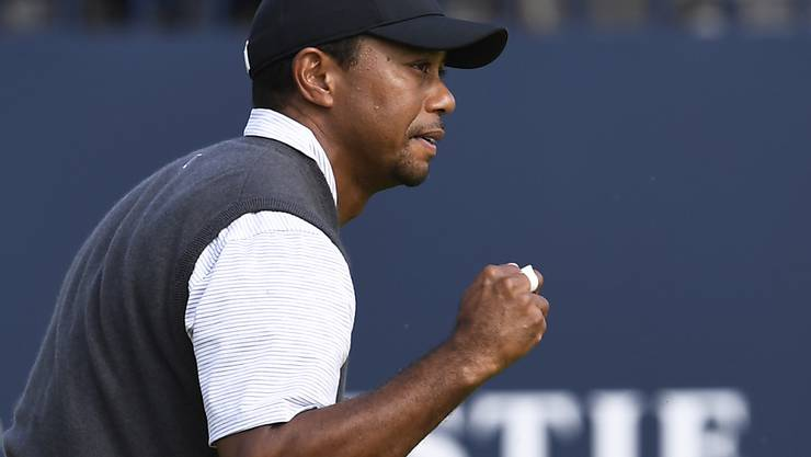 Am British Open erlebt man einen kämpferischen Tiger Woods