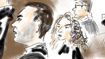 Der 30-jährige Asylbewerber (links) vor Gericht in Zofingen. Er muss hinter Gitter.