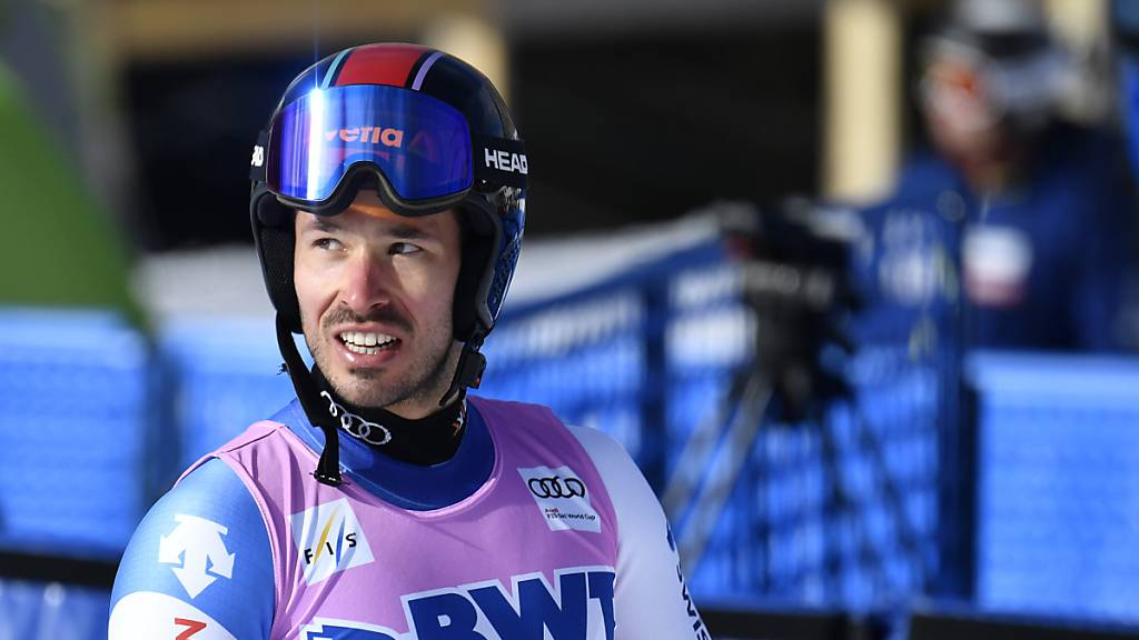 Gilles Roulin war im ersten Training in Val d'Isère der schnellste Schweizer.