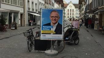 Hanspeter Hilfiker darf so nicht mehr in der Rathausgasse lächeln.uhg