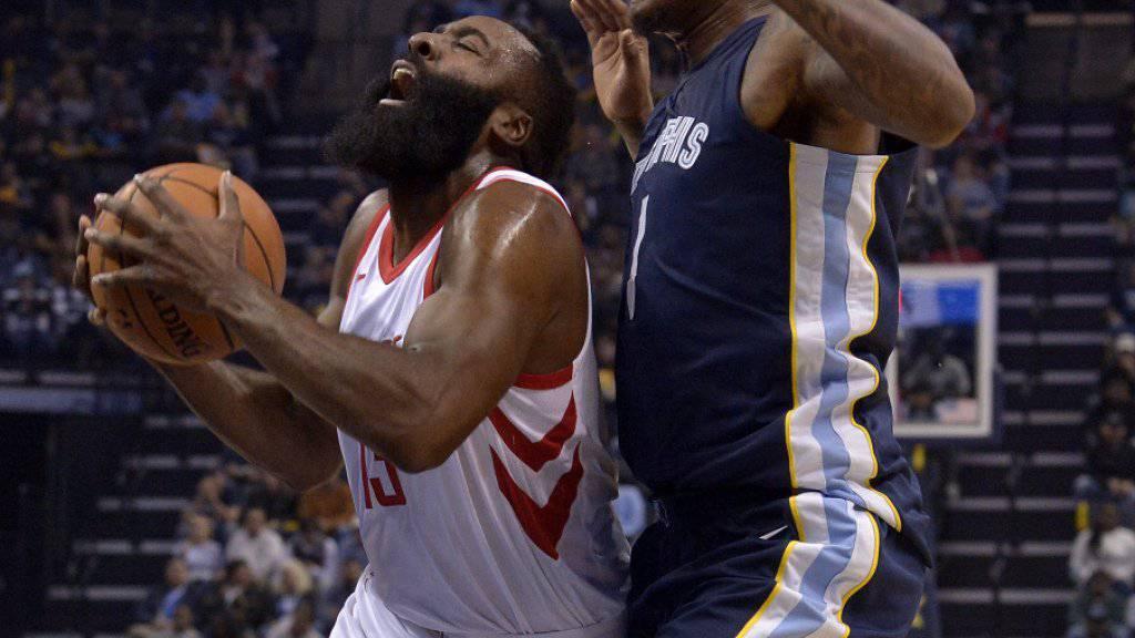 Kein guter Abend für James Harden (links) und die Houston Rockets